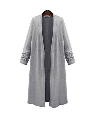 Women's Solid Black / Gray T-shirt,Off Shoulder Long Sleeve