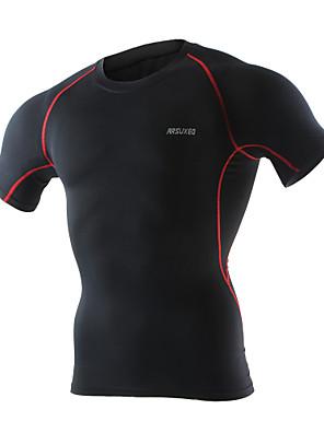 Arsuxeo® Camisa para Ciclismo Homens Manga Curta MotoRespirável / Secagem Rápida / Compressão / Materiais Leves / Antibacteriano /