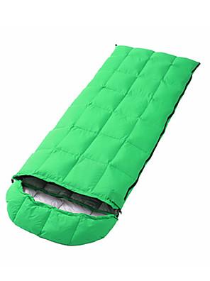 שק שינה שק שינה מלבני יחיד -5--15 פלומת ברווז 1500g 180cmX73cm קמפינג / לטייל / חוץ / בתוך הביתחדירות ללחות / נשימה / בידוד חום / עמיד