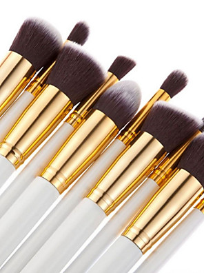 10 ks make up štětců, kosmetické, na obočí, oční stíny a rtěnku, sada
