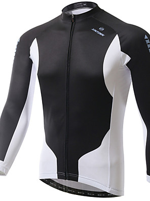 XINTOWN® חולצת ג'רסי לרכיבה לגברים שרוול ארוך אופניים נושם / ייבוש מהיר / עמיד אולטרה סגול / מגביל חיידקים ג'רזי / צמרות אלסטיין / טרילן