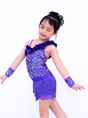 ג'אז בגדי גוף / חצאיות טוטו וחצאיות / כפפת ריקוד בגדי ריקוד נשים / בגדי ריקוד ילדים ביצועים נצנצים / לייקרה נצנצים / גדיל (ים) 4 חלקיםבלי