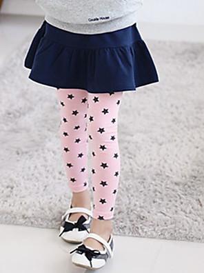 Girl's Cotton Summer Embroider Stars Leggings