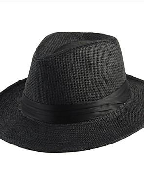 כובע קש יוניסקס וינטאג' / חמוד / מסיבה / עבודה / יום יומי,קש חורף / קיץ / כל העונות