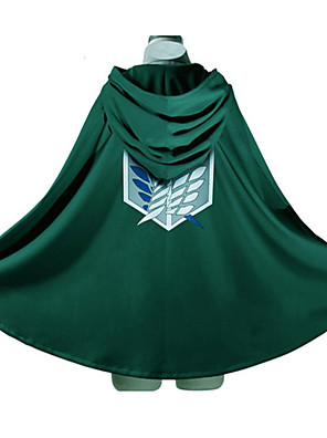 קיבל השראה מ Attack on Titan Eren Jager אנימה תחפושות קוספליי קפוצ'ון Cosplay דפוס ירוק שרוולים ארוכים עליון