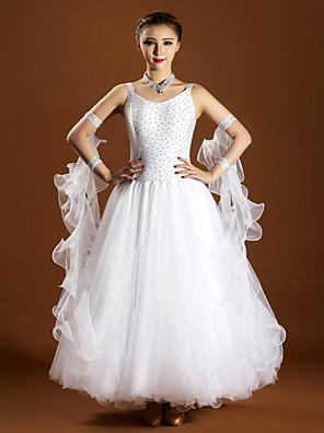 הופעות שמלות בגדי ריקוד נשים ביצועים ספנדקס / טול קריסטלים / rhinestones 6 חלקים בלי שרוולים טבעי שמלות / Neckwear / צמידS:128cm M:129cm