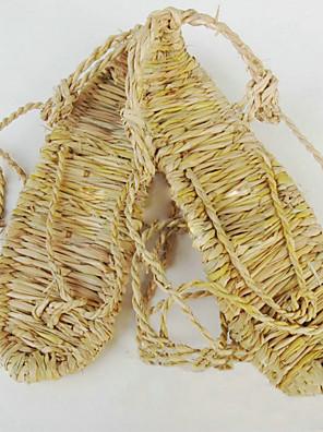 Sapatos de Cosplay Fantasias Fantasias Anime Sapatos de Cosplay Amarelo Palhinha Forma de Corda Masculino