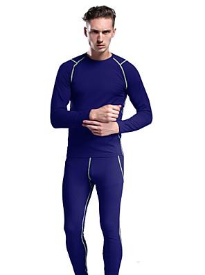 KOSHBIKE / KORAMAN® חולצה וטייץ לרכיבה לגברים נושם / שמור על חום הגוף / ייבוש מהיר / רכות / רך / דחיסה / נמתח / נמתח לארבעה כיוונים