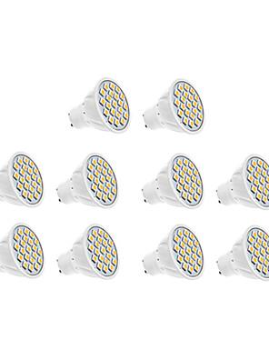 7W GU10 Spot LED 18 SMD 5630 570 lm Blanc Chaud / Blanc Froid AC 100-240 V 10 pièces