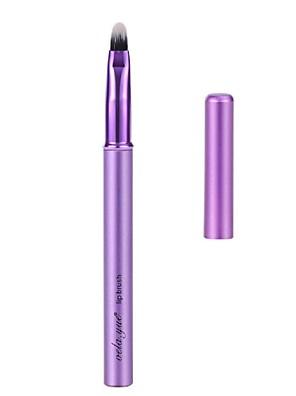 vela.yue® Lip Brush Lip Gloss Makeup Tool Violet Alumium Handle with Cover
