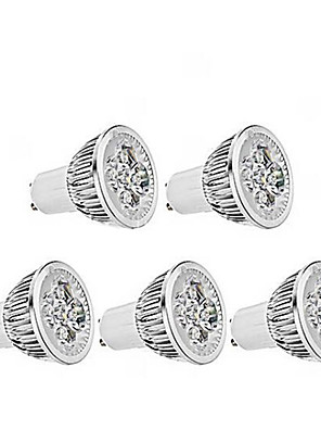 5W GU10 Spot LED MR16 1 350-400 lm Blanc Chaud Gradable AC 100-240 V 5 pièces