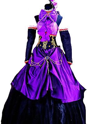 Inspirovaný Vocaloid Megurine Luka Video Hra Cosplay kostýmy Cosplay šaty / Šaty Jednobarevné Fialová Bez rukávů K šatům / Rukáv
