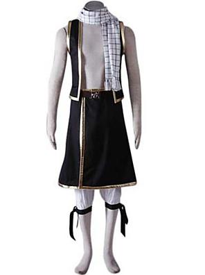 Inspirovaný Fairy Tail Natsu Dragneel Anime Cosplay kostýmy Cosplay šaty Patchwork Czarny Krátké rukávyVesta / Kalhoty / šála či šátek /