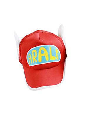 כובע קיבל השראה מ Dragon Ball Arale אנימה אביזרי קוספליי כובע אדום / צהוב פוליאסטר נקבה