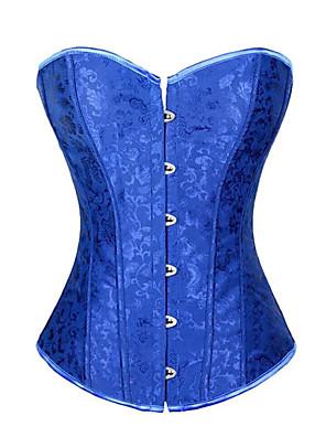 Feminino Com Busto Roupa de Noite,Sexy Jacquard Poliéster / Cetim Azul Mulheres