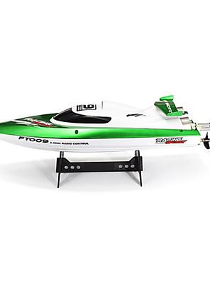 Speedbåt Fei lun FT009 Racing RC Båt Børste Elektrisk 4CH 2.4G 30km/h Green