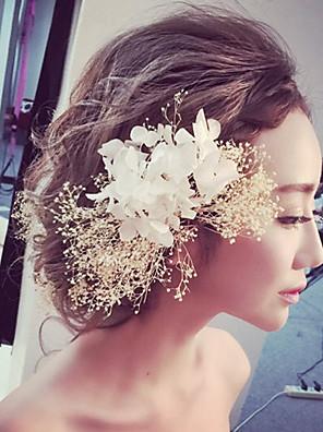 Mulheres Tecido Capacete-Casamento / Ocasião Especial / Ao ar Livre Flores 1 Peça