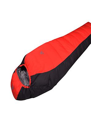 Saco de dormir Tipo Múmia Solteiro (L150 cm x C200 cm) 0°C Penas de Pato 1500g 210X70 Campismo Respirabilidade / Tempo Frio Mountain