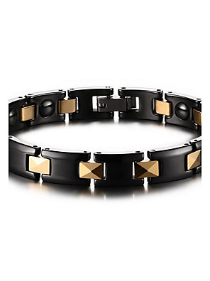 Armbanden Armbanden met ketting en sluiting Keramiek Magneettherapie Dagelijks / Causaal Sieraden Geschenk Zwart,1 stuks