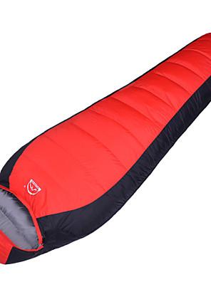 Спальный мешок Кокон Односпальный комплект (Ш 150 x Д 200 см) 10°C Утиный пух 1000г 210X70 Походы Воздухопроницаемость / Холодная погода