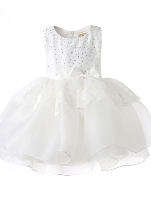 Girl White Tulle Cutest Baptism and Christening Dress