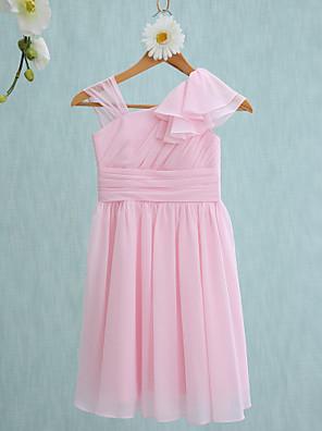 Lanting Bride® Ke kolenům Šaty pro malou družičku Pouzdrové Popruhy s Volánky / Boční řasení