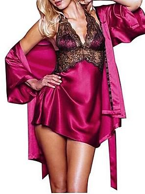 Ženy Krajkové prádlo / Ultra sexy / Kostýmy Noční prádlo Sexy / KrajkaKrajka / Polyester tenké Fialová / Červená / Černá Dámské