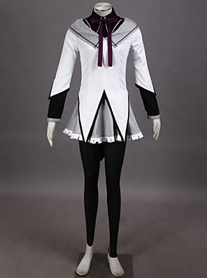 קיבל השראה מ Puella Magi Madoka Magica Homura Akemi אנימה תחפושות קוספליי חליפות קוספליי טלאים לבןעליון / חצאית / מכנסיים / רצועת ראש /