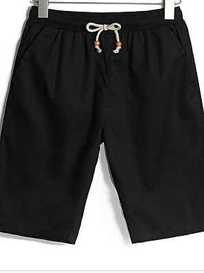 Men's Solid Casual Shorts,Cotton Black / Green / White