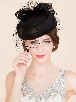 נשים טול / פשתן כיסוי ראש-חתונה / אירוע מיוחד / קז'ואל קישוטי שיער / כובעים / Birdcage Veils חלק 1