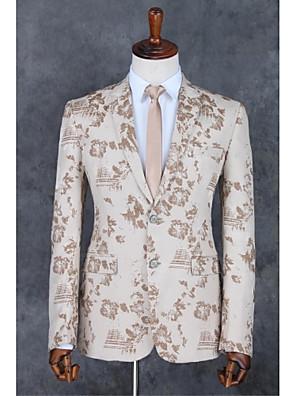 2017 obleky standardní fit zářez jednotlivé prsy dvě tlačítka polyester vzory 2 kusy rovný třepotal