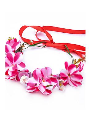 Women's Polyester / Fabric Headpiece-Wedding / Special Occasion / Outdoor Handmade Flowers Wreaths 1 Piece