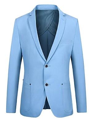 2017 ternos ajuste padrão magro notch única breasted de dois botões de algodão sólida 1 peça cáqui pipeddark reta azul /