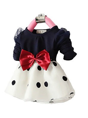 FanXingBeiYiGirl's Party/Cocktail Polka Dot Dress,Others Fall Blue / Pink