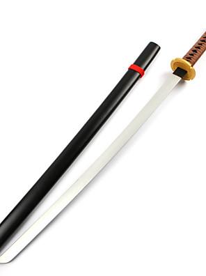 Arma Inspirado por InuYasha Inu Yasha Anime Acessórios de Cosplay Arma Preto Madeira Masculino