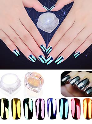 2g / taske nye manicure plating spejl pulver 10 farve spejl spejl glitter pulver manicure aurora