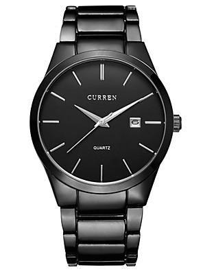 Men's Watch Dress Watch Calendar Casual Watch Steel Band Black Cool Watch Unique Watch Fashion Watch