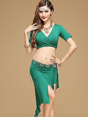 ריקוד בטן תלבושות בגדי ריקוד נשים ביצועים מודאלי עטוף 2 חלקים שרוול קצר טבעי חצאית / עליוןSuitable Height:155-175cm,Suitable