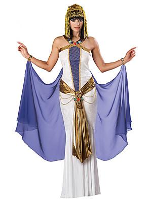 Fantasias de Cosplay / Festa a Fantasia Princesa / Fantasias Egípcias Festival/Celebração Trajes da Noite das BruxasDourado / Branco /