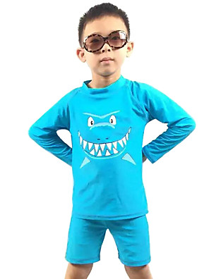 בגדי ים חוף דפוס פוליאסטר קיץ כחול הילד של