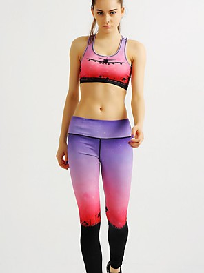 MIDUO® לנשים דחיסה יוגה מדים בסטים פוקסיה