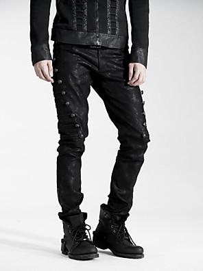 k-136 unisex fekete hosszú nadrág dart vénák punk rave