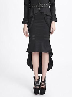 PUNK RAVE  Q-276 uniform style PUNK fishtail skirt