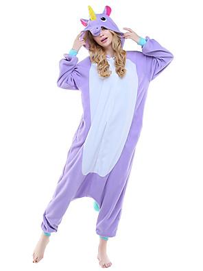 Kigurumi Pyjamas Gymnastikanzug/Einteiler Fest/Feiertage Tiernachtwäsche Halloween Purpur / Rosa / Himmelblau Tiermuster Druck