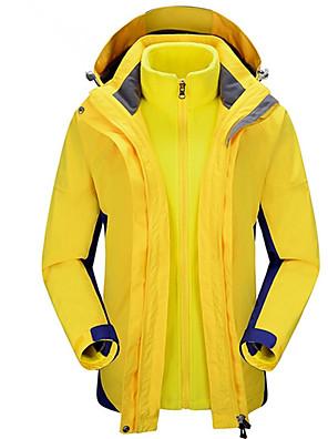 טיולי טבע מעילי פליז / ז'קט עם שכבה חיצונית רכה לנשים עמיד למים / נושם / מוגן מגשם / לביש / שמור על חום הגוף / בטנת פליזאביב / סתיו /