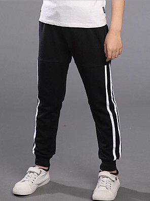Boy's Casual/Daily Striped Pants,Rayon Spring / Fall Black