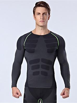 ספורטיבי חולצת ג'רסי לרכיבה לגברים שרוול ארוך אופניים נושם / שמור על חום הגוף / מבודד / נוח צמרות ניילון / Chinlon קלאסי סתיו / חורףכושר