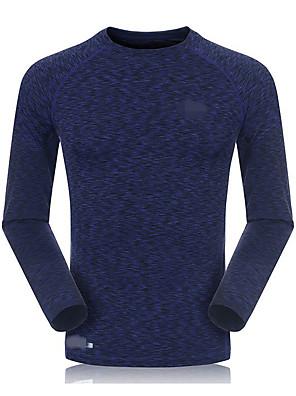 ריצה סווטשירט לגברים שרוול ארוך נושם / ייבוש מהיר / דחיסה / תומך זיעה מודלים / סיבי במבוק פחמן ריצה ספורטיבי בגדי ספורט מתיחה צמודבגדי