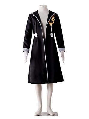 Inspirovaný Fairy Tail Gerard Fernandes Anime Cosplay kostýmy Cosplay šaty Jednobarevné Czarny Dlouhé rukávy Přehoz