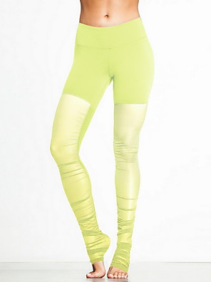 מכנסיים יוגה מכנסיים נושם / נמתח טבעי מתיחה בגדי ספורט צהוב / ורוד / שחור / כחול / סגול / סגול בהיר יוניסקס ספורטיבי יוגה